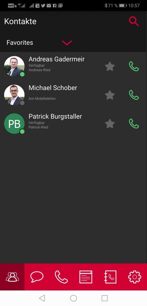 Mitarbeiterliste Mobilclient Airphone